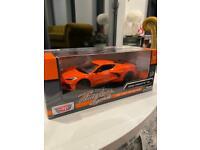 Corvette C8 Orange 1/24 Die Cast Model New In Box Official Merchandise 2020