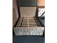 🇬🇧🔥🇬🇧FREE DELIVERY CHAMPAGNE DIAMOND SUITE LUXURY BED