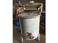 Vintage Acme Washing Tub & Mangle Retro Kitchenalia
