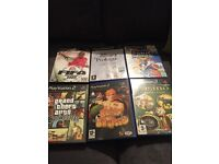 PS2 and PS2 slim (6 games and 2 controllers)