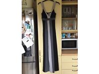 Black and Grey Maxi Dress - 10/12