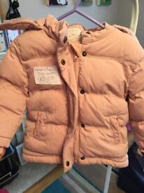 Mamas and Papas girls coat 9-12 months