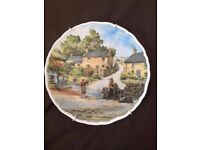 Pair of Anthony Forster Vintage Decorative Plates with Wall mountings