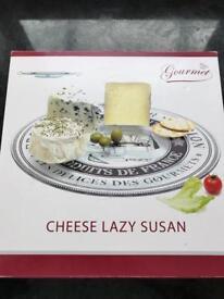 Unused Gourmet Cheese Lazy Susan