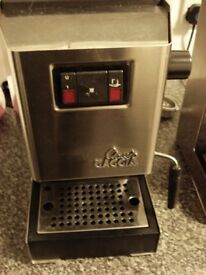 Gaggia Classic espresso coffee machine older model OPV adjusted to 9 bar can courier.