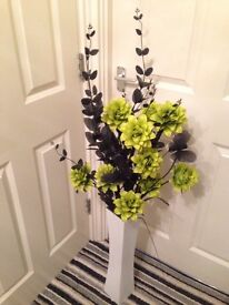 Black and green flowers