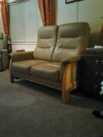 Leather two seater toup