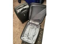Two hard shell suitcases