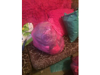 bag of womens clothes and accessories