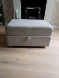 Dfs footstool silver/cream
