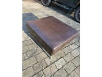 Large Leather Footstool/Coffee Table