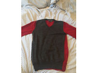 Dolce and Gabbana Red and Grey Sweater Size 48