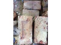FREE - approx 150 Edwardian reclaimed house bricks - Imperial Reds
