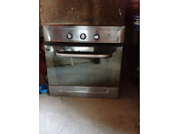 Silver Integrated electric fan oven - built in