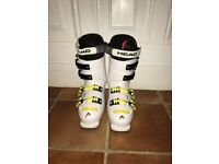 Children's Head ski boots in white - hardly used