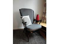 Ercol high back chair.