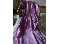 Pair of purple/pink/lilac fully lined curtains 80 w x 84 l