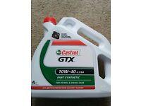 Castrol GTX Car Auto Motor Machine Oil Part Synthetic 10W-40 Petrol Diesel 4.0L Rotary RX8 RX7