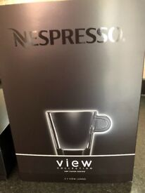 Nespresso View Collection - two lungo cups and saucers