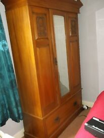 Antique Wardrobe. LOvely condition. Back board split, but doesn't affect anything.