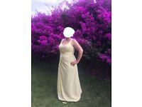 Lemon Chiffon Bridesmaid Dress (size 16-18 UK), only worn once!