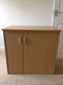 Compact cupboard/desk
