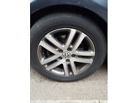 """3 VW Alloys """"Atlanta"""" wheels and tyres £85 each or £250 the 3. Size 205 55 R16"""