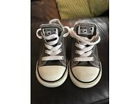 Boys converse size 6 grey