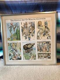 The gentle art of making Guinness framed print