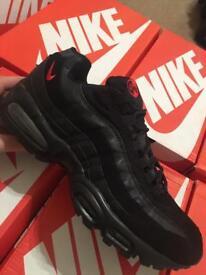 Nike air max 95 blk/red uk9
