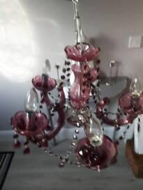 Pink Chandlier