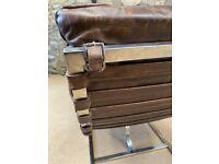 John Lewis Halo Joel Leather Chaise Lounge