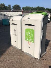 Glasdon Nexus 100 Ltr Recycling Bin General Waste Mixed Recyclables