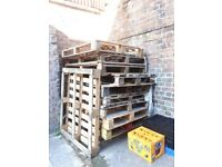 Free wooden pallets available for collection in Hackney, needs going asap