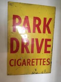 Original Park Drive cigarettes metal sign