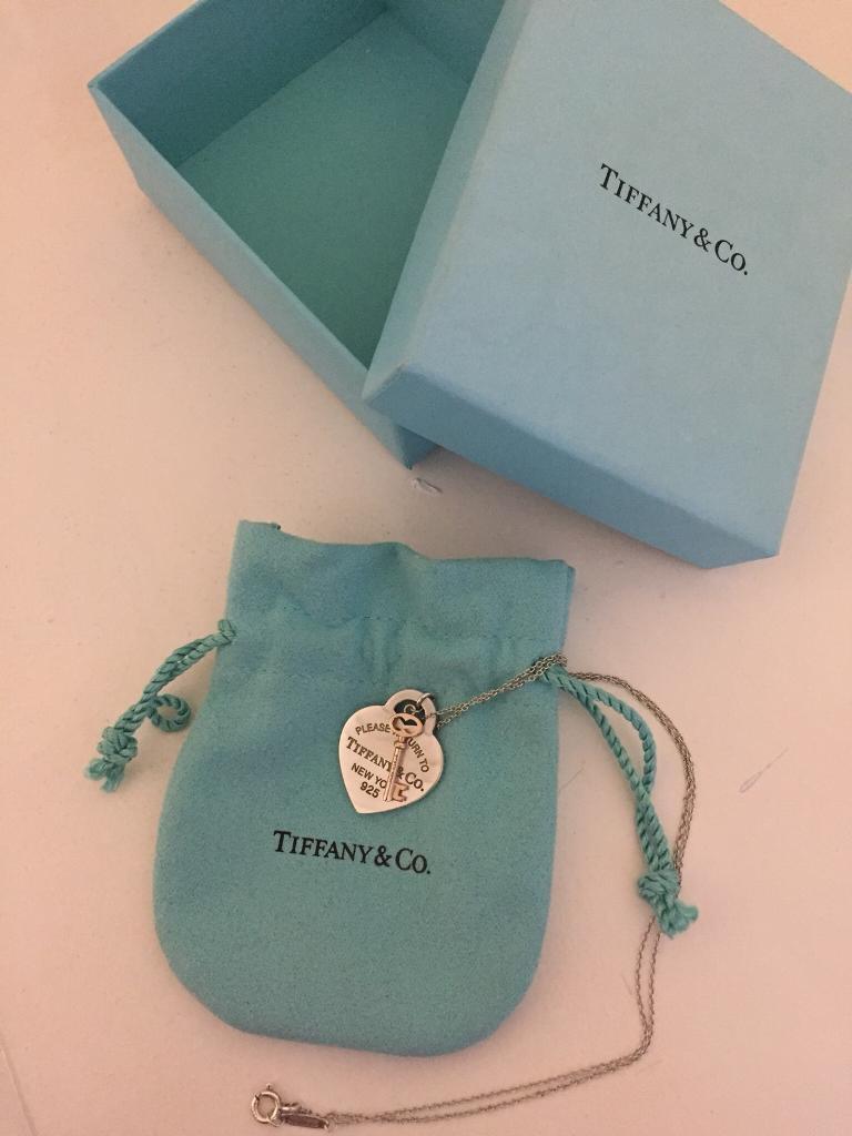 Tiffany heart key pendant necklace in ladybarn manchester gumtree tiffany heart key pendant necklace mozeypictures Choice Image