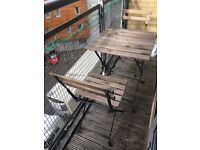 Garden table and 2 chairs outdoor folding furniture