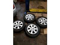 Peugeot 307 alloy wheels with tyres