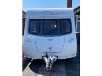2015 Lunar cosmos 352 2 berth caravan inc mover & bradcot porch awning