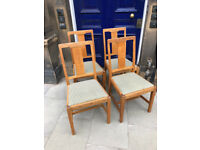 Oak Dining Chairs , Good quality chairs , and all frames solid. £40 each ( 5 available )