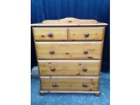 Solid Pine Tallboy Chest of drawers