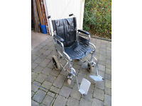 Wheel chair, folding and self propelled