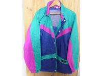AS NEW 1990s-vintage PETER STORN Waterproof JACKET. SIZE L. Taped seams. Hood inside zipped collar.