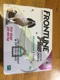 FRONTLINE Plus Spot On Flea Tick Lice Treatment for Dogs 20-40KG - 6 Pipettes