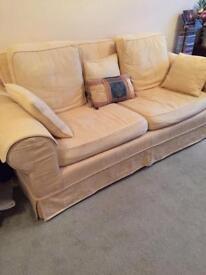 Three seat sofa and arm chair