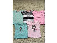 X5 girls tshirts 2-3years