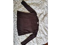 Black sheer/fine knit shirt/sweater, Women's S