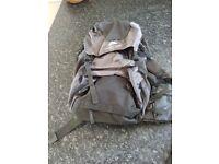 Grey back pack