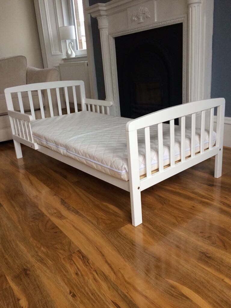 White Wooden Toddler Bed Amp Mattress For Sale In Burnside