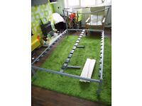 4fT GREY DOUBLE METAL BED FRAME WITH SLATS IN VERY GOOD CONDITION FREE LOCAL DELIVERY 07486933766